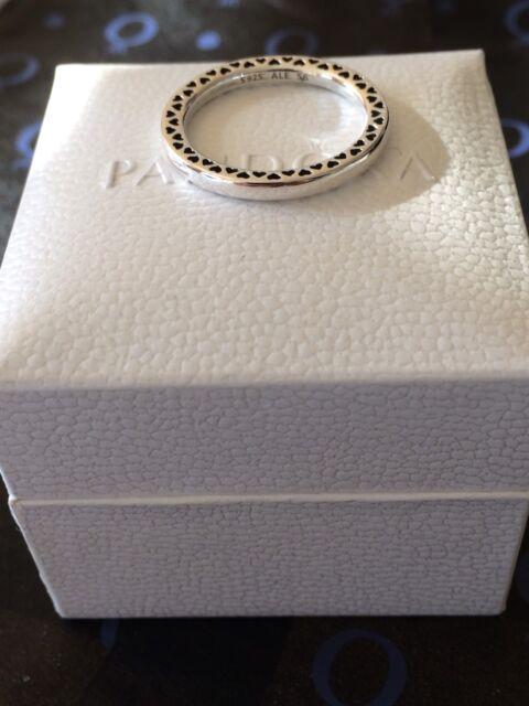 Genuine Plata 925 Corazones Clásico De Pandora Anillo Tamaño 58
