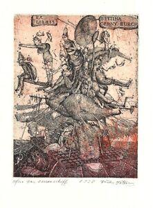 Ex Libris Bookplate Exlibris Dusan Kallay - Slovakia