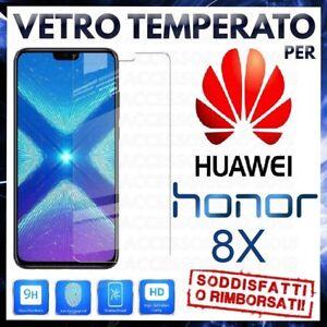 Pellicola-in-VETRO-TEMPERATO-per-HUAWEI-HONOR-8X-VIEW-10-LITE-Protezione-LCD