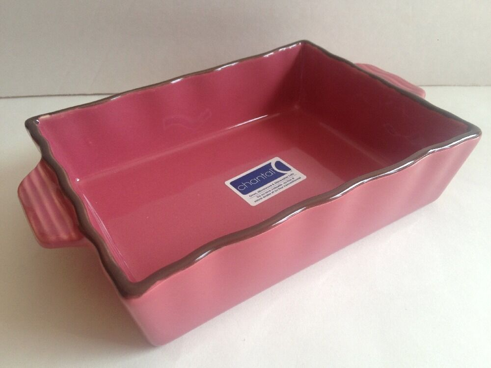 Pink Mauve Pink Chantal Dish 1.25 Quart Rectangular  New
