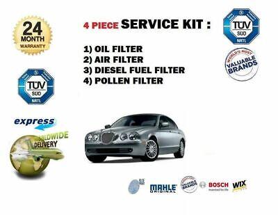 S Type 2.7 Turbo Diesel Oil,Fuel,Air /& Pollen Filter Service Kit