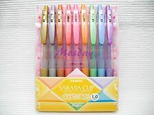 Zebra SARASA 1.0mm Retractable Roller Ball Pen, 9 Metallic Colors Set