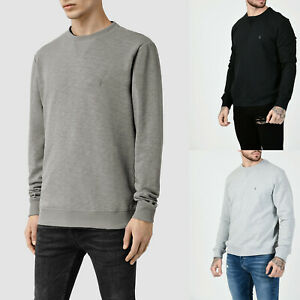 All-saints-hombre-Wilde-Disenador-Regular-Fit-Cuello-Redondo-Sudadera-Sueter-Jumper