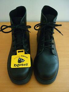 MEN-039-S-WINDSOR-SMITH-RAZORBACK-BLACK-LEATHER-LACE-UP-BOOTS-SIZE-7-NWOT