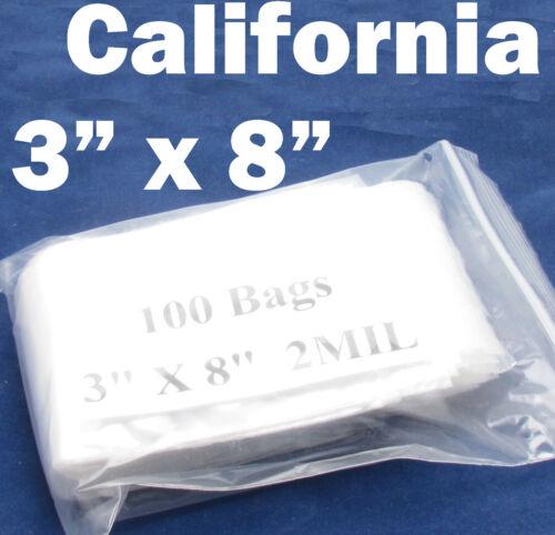 Clear 2 Mil Ziplock Reclosable Zip Lock Poly Plastic Zipper Bags Jewelry retail