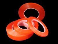 Double Sided Tape, One 36 Yd Roll Of Each Size Red Liner Doublesided Tape Tacky
