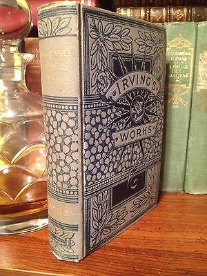 c1890 Life & Voyages Of Columbus/Tour The Prairies Washington Irving Victorian