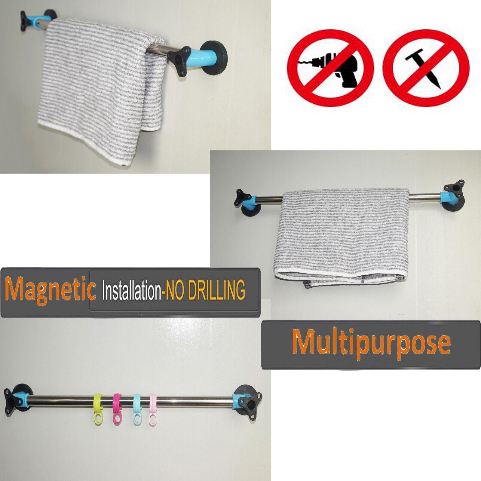 Magnetic Modern Towel Bar,Stainless Steel,for Refrigerator,Kitchen Sink,ironDoor