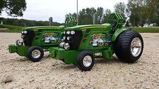 John Deere Whiskey Wild 1/16th Ertl diecast tractor pulling bruder farm toy
