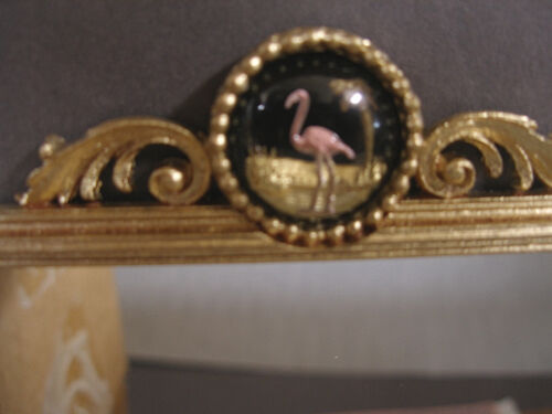 FLAMINGO  MIRROR ~ Handcrafted ~Jim Coates~ Dollhouse~ 1:12 scale ~ Room Box
