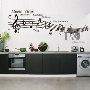 Music Virus Musical Note Removable Vinyl Decal Wall