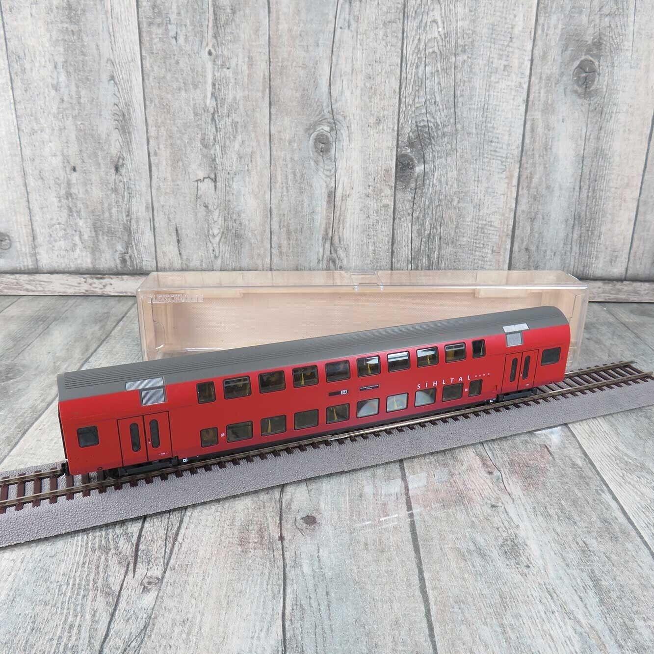 FLEISCHMANN 5734 - H0 - Doppelstockwagen Sihltalbahn  beleuchtet - OVP -  Q26537