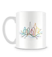 London Illustration with Eye Shard Thames and Underground Design Mug