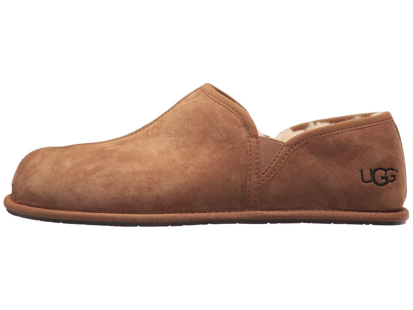 Nouveau Mocassin UGG Scuff Romeo II pour hommes - Chaussures à enfiler décontractées - Châtaignier