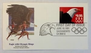 US-Scott-2541-Eagle-Olympic-Rings-9-95-Express-Mail-UNADDRESSED-FDC-Fleetwood