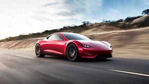 Tesla-Roadster-Car-Art-Silk-Wall-Poster-Print-24x36-034