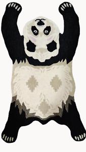 Panda rugs Shape 3'0''x5'0'' ft Handmade Tufted 100% woollen Area Rugs