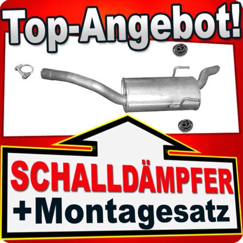 Endschalldämpfer CITROEN EVASION FIAT ULYSSE I PEUGEOT 806 2.0 90 kW Auspuff DFB