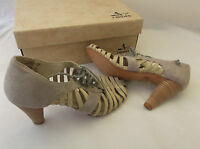 J Shoes Hickory Women's Greyleather Heeled Sandals Uk 5 Eu 38 Boxed Rrp £90