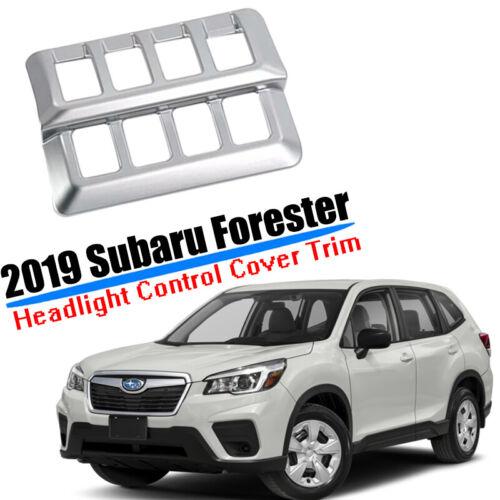 Front Headlight Control Cover Trim Chrome Sliver For Subaru Forester 2019 2020