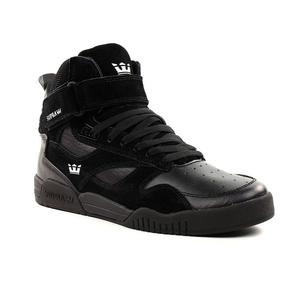 Supra Shoes Bleeker High Top - Triple Black
