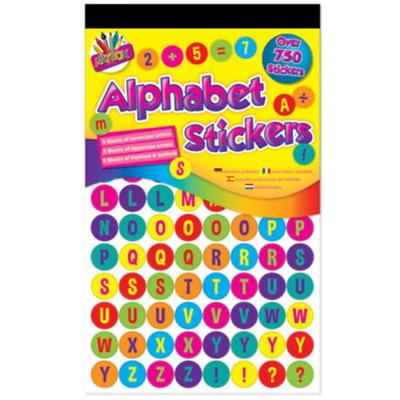 Artbox 750 número de aprendizaje /& Alfabeto Pegatinas 6812