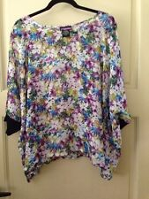 New LYS Women's Plus Size 1X Sheer Shirt Top Blouse Floral Career $69 2X Cute **