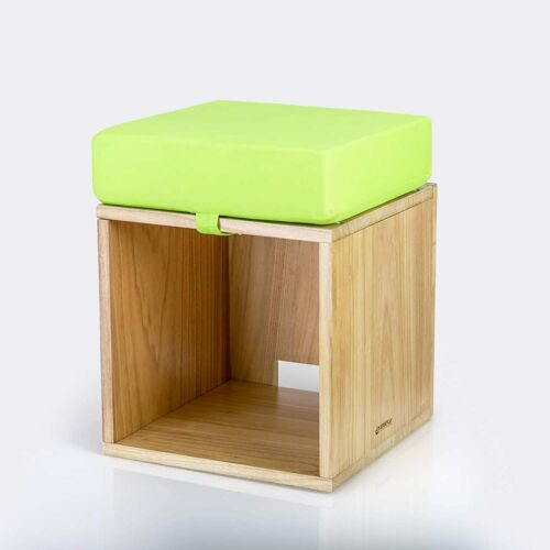 CHILDRENS PLAY STOOL Stylish Kids Wooden Seating BOX WITH CUSHION Modular Fits