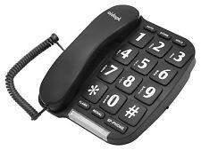 Aidapt fáciles de leer con Cable Negro Big Button teléfono manos libres inicio teléfono