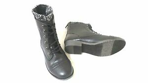 0fe29a54a8ab Image is loading New-Mudd-Womens-Lace-up-Knit-Cuff-Boots-