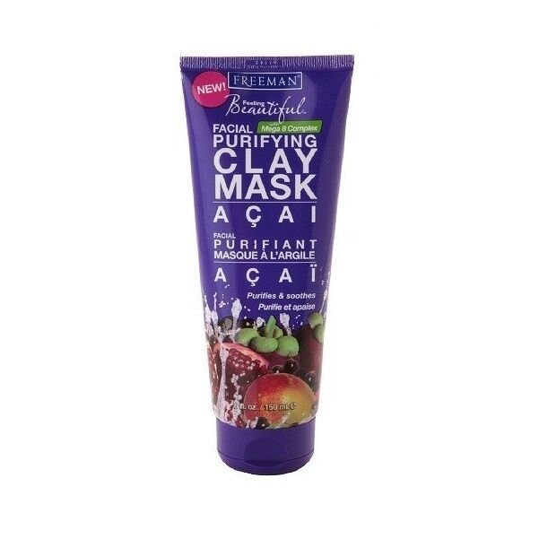 FREEMAN Acai Facial Purifying Clay Mask - Cleansing Mask 150ml -EXP.DATE 02.2017