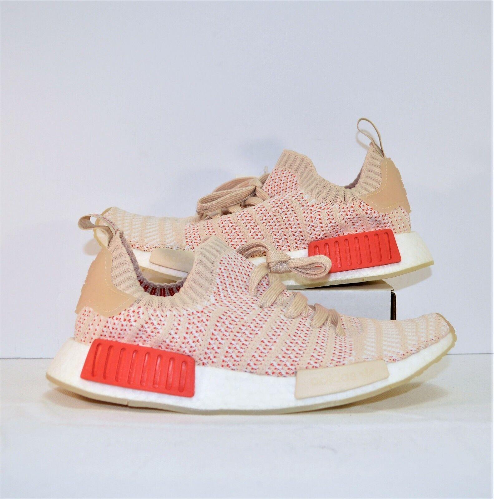 Adidas Boost NMD R1 STLT Primeknit White Womens Training shoes Sz 10 NEW CQ2030