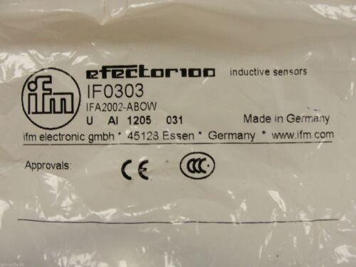 New IFM Efector Inductive Sensor IFA2002-ABOW IR0303