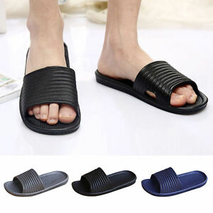 f85de6116fed44 Image is loading Women-Unisex-Non-Slip-Bathroom-Slippers-Shower-Shoes-