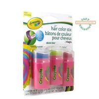Crayola Hair Color Stix Temporary Hair Color 3-pack 8 Years + Fast Shipping