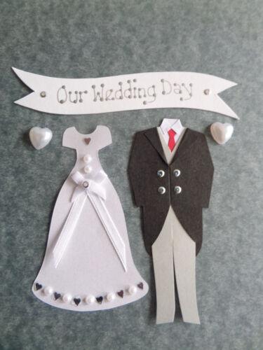 WEDDING CARD MAKING BRIDE /& GROOM *LUXURY* WEDDING EMBELLISHMENTS SCRAPBOOKING