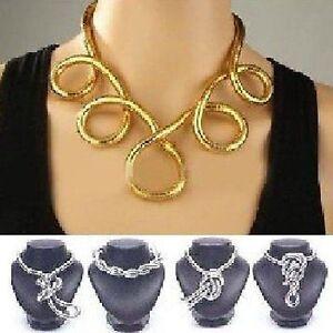 Metall-Schlange-flexibel-Armreif-Biegsam-Halskette-Snake-Kette-Armband-Halsreif