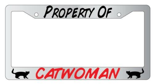 Property Of Catwoman Chrome Plastic License Plate