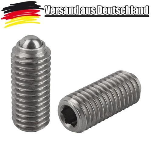 1x Federnde Druckstücke M2 Innensechskant und Kugel Federkraft 2 x 5 mm L0164