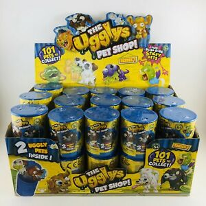 The-Ugglys-Pet-Shop-Series-1-Blind-Cans-Lot-Of-30-With-Display-Box