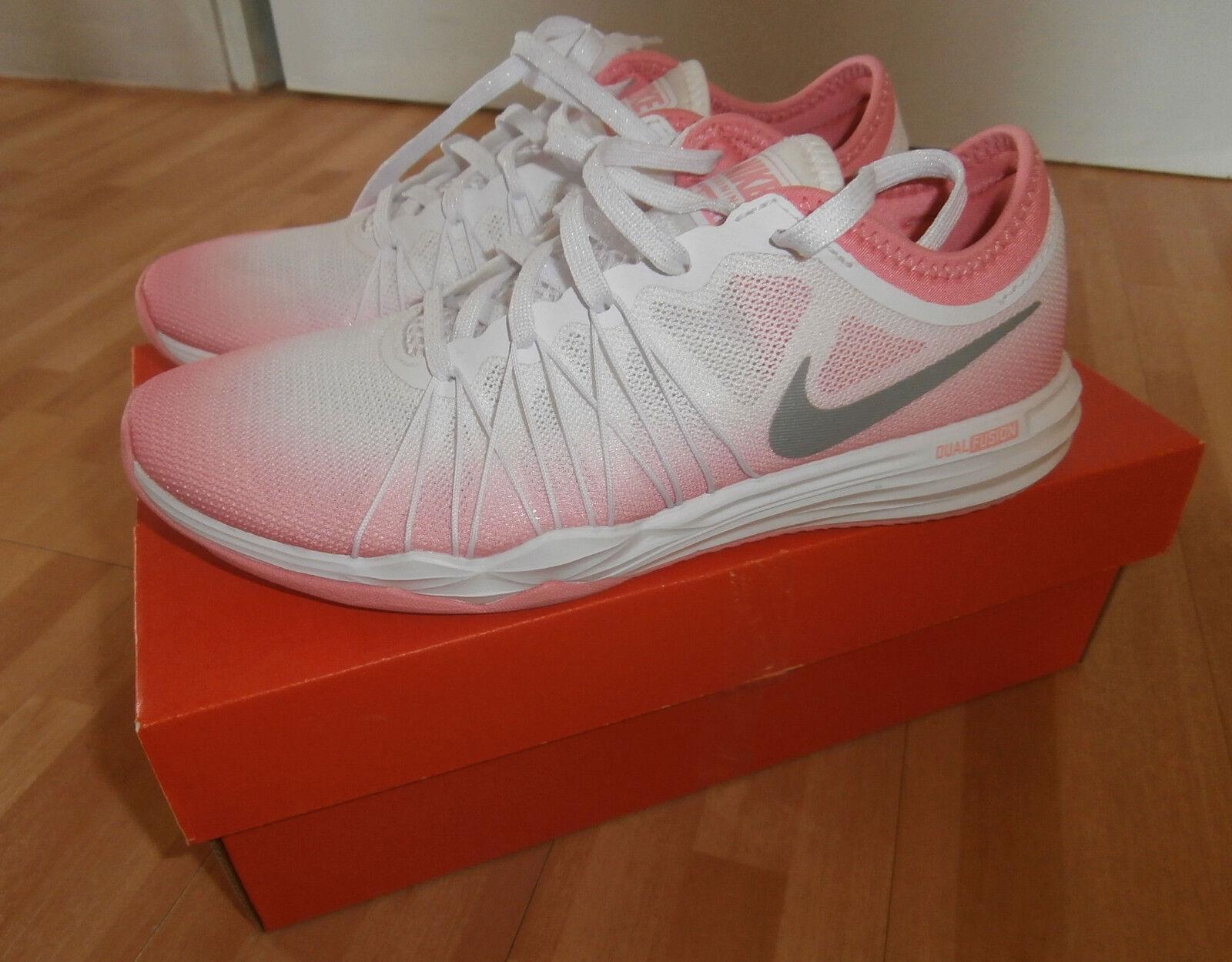 NIKE Dual 6.5 Fusion Größe 6.5 Dual / 37,5  Damen Sneaker  rosa/weiß  Wie neu e997b3