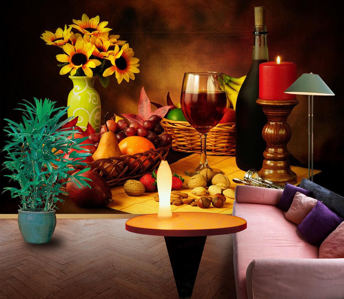 3D Vino Rosso 122 Parete Murale Foto Carta da parati immagine sfondo muro stampa