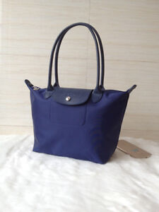 100% Auth Longchamp Le Pliage Neo Small Tote Bag Navy Blue ... a0ef62d2e47fa