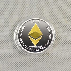 Hot-Gold-amp-Silver-Plated-Commemorative-Collectible-Iron-ETH-Ethereum-Miner-Coin