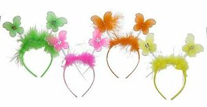 FARFALLA-testa-Boppers-Costume-Fascia-Neon-ADDIO-AL-NUBILATO-ROSA-VERDE-GIALLO