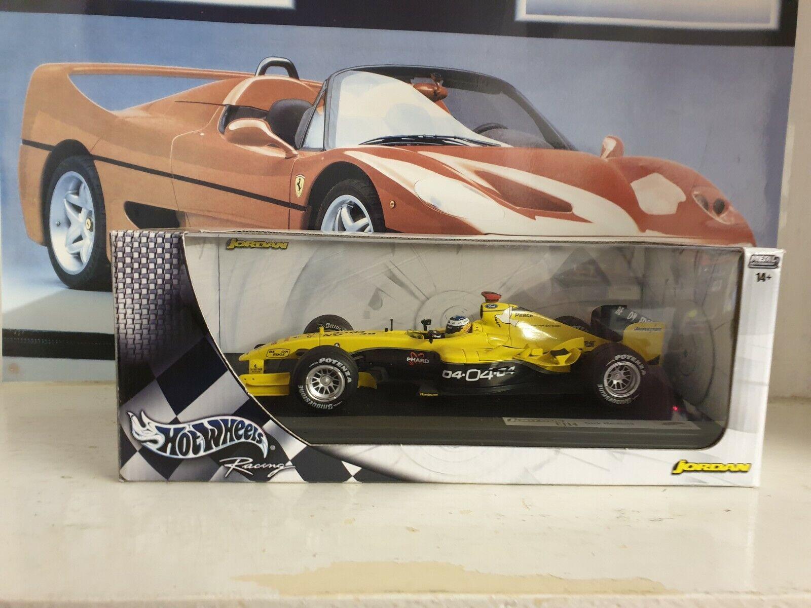 HOTWHEELS   F1  - JORDAN EJ14 - N HEIDFELD  - 1 18 SCALE MODEL CAR - B6203