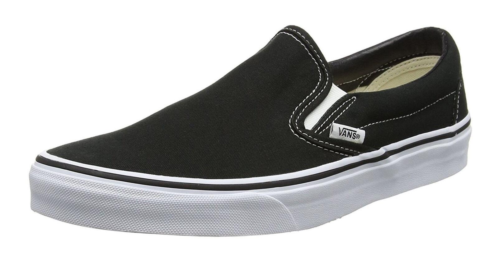 Tenis Vans clásicas resbalón en Negro Blanco para Hombre Zapatos Zapatillas Tenis Zapatos Hombre 105ee8