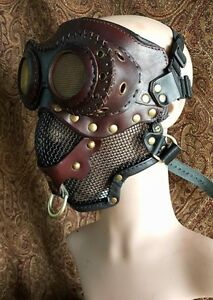 Steampunk-Mad-Mask-Leather-Facemask-role-play-Fantasy-Medival-Airship