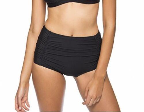 Athena Women/'s Black High Waist Bikini Bottom 4529 Size 12
