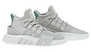 official photos 8b366 5962e Details about NEW Ladies Girls Boys Adidas EQT Adv Basketball Trainers Grey  White UK Size 3